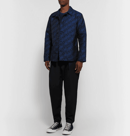 Monitaly   Tapered Pleated Cotton-sateen Trousers   Black