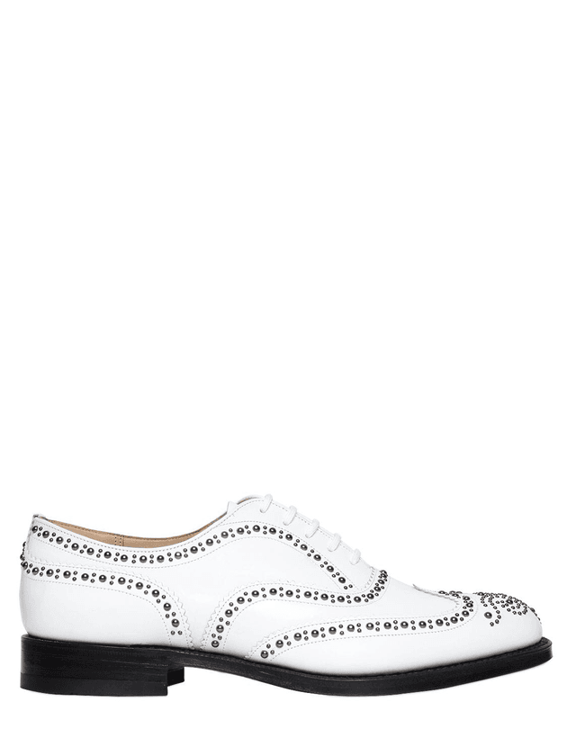 15b9286b84fc0d Burwood Studded Leather Lace-up Shoes