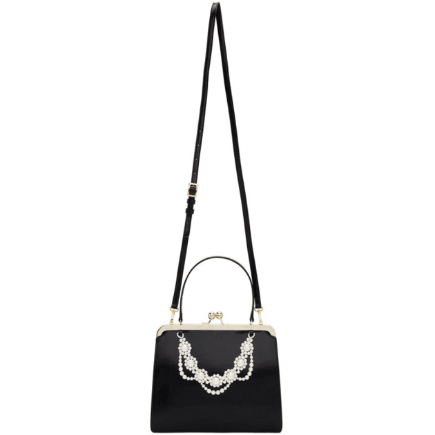 a5d597ff18 Simone Rocha Black Beaded Top Handle Bag