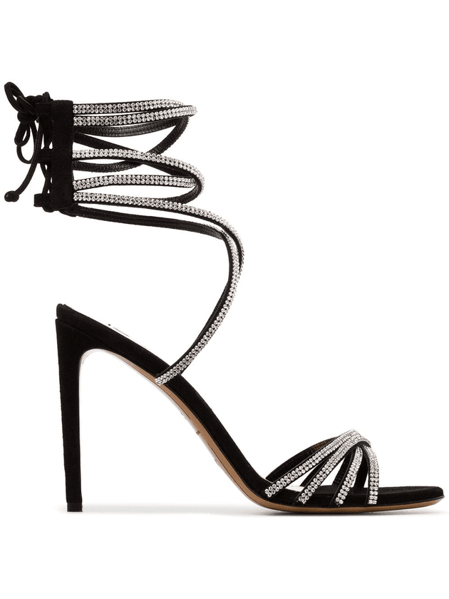 479e8061 Alexandre Vauthier Josephine 100 strappy crystal suede sandals ...