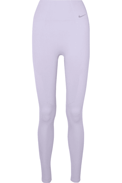 4b53192f8abf64 Nike | Power Perforated Ribbed Dri-fit Leggings | Lavender ...