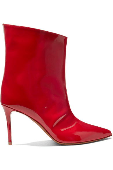 lower price with sports shoes various styles Alexandre Vauthier | Alex Patent-leather Ankle Boots | Red ...