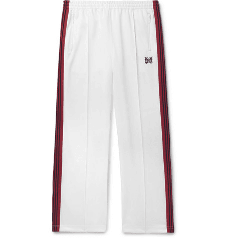 0ab7bf9e Needles | Embroidered Striped Satin-jersey Track Pants | White |  MILANSTYLE.COM