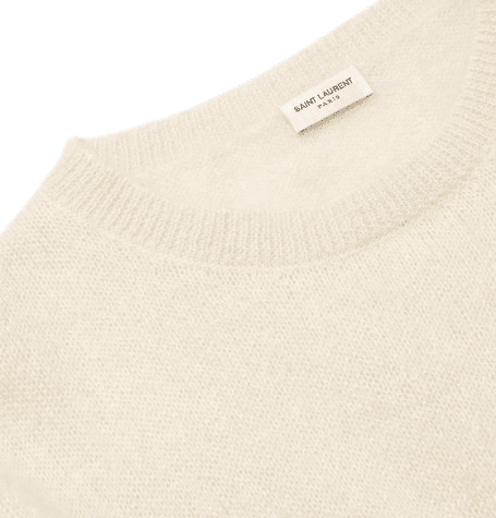 81ee8711df7 Saint Laurent | Palm Tree-intarsia Mohair-blend Sweater | Cream ...
