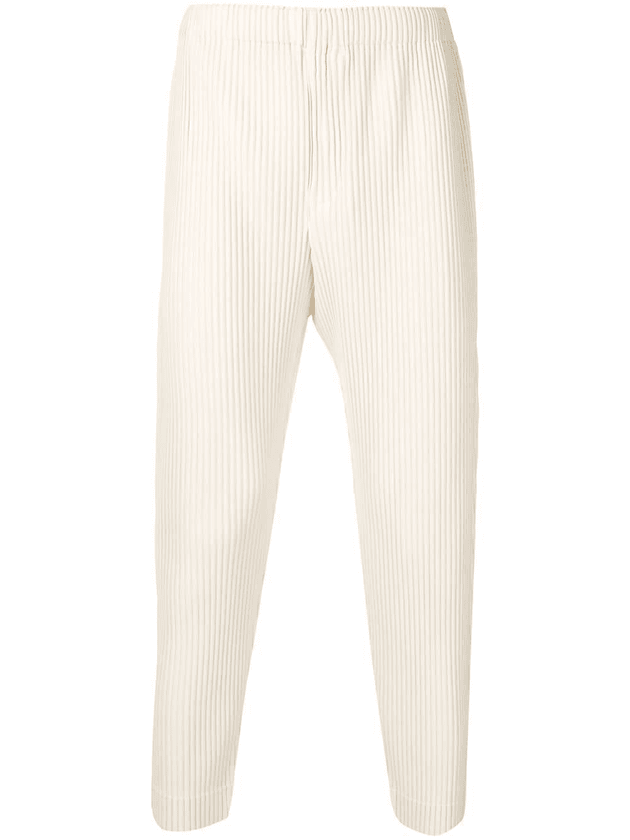 d6db60511248a9 Homme Plissé Issey Miyake cropped pleated trousers | White ...