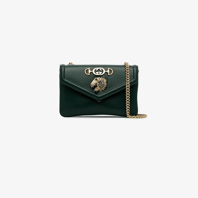 45ece6586 Gucci green Rajah leather cross-body bag | MILANSTYLE.COM