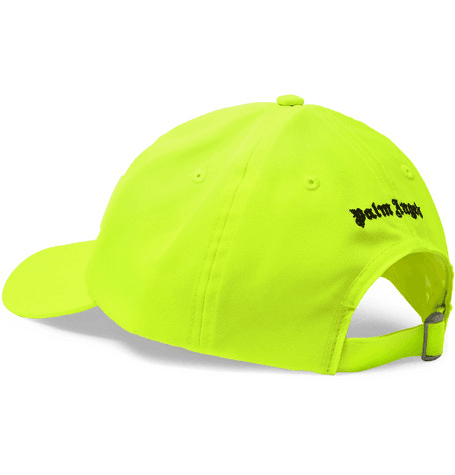 3f961060caec1 Palm Angels - Logo-embroidered Neon Twill Baseball Cap - Yellow