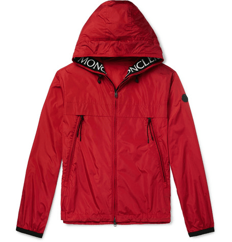 9f8f81cfc Moncler - Massereau Logo-embroidered Hooded Shell Jacket - Red