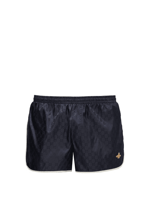 24177d6df7 Gucci | Gg Quick Drying Swim Shorts | Mens | Blue Multi | MILANSTYLE.COM