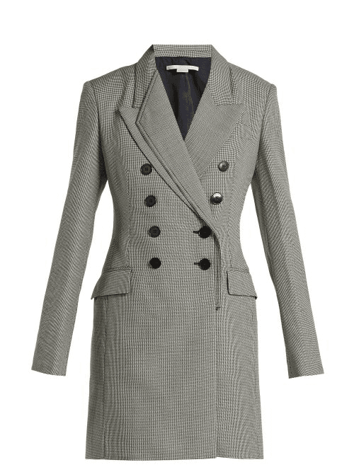 13df5eb6fe41 Stella Mccartney | Double Breasted Houndstooth Wool Dress | Womens ...