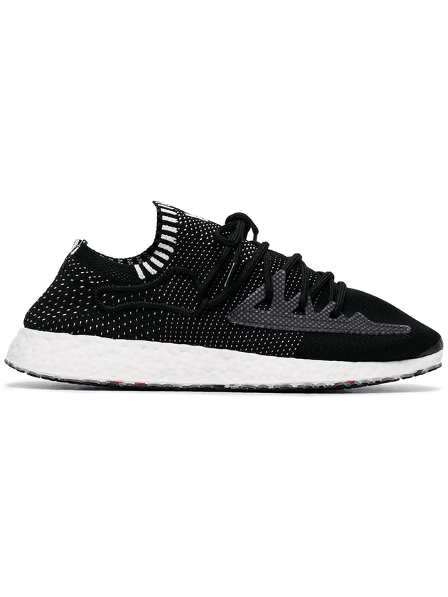 3a0582098a64c Y-3 black Raito Racer logo embroidered low top sneakers