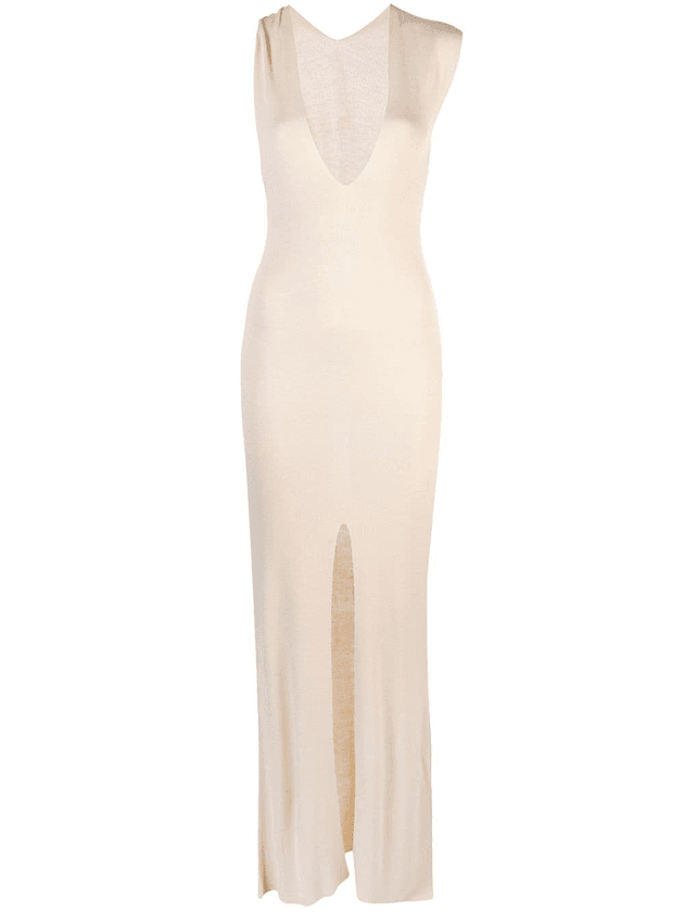 135aedac65e Jacquemus long knitted slit dress | Neutrals | MILANSTYLE.COM