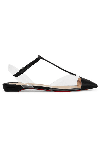 the latest dbbd1 f470a Christian Louboutin   Nosy Crystal-embellished Satin And Pvc ...