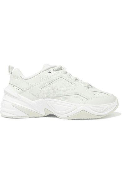 Nike | M2k Tekno Leather And Mesh Sneakers | Green