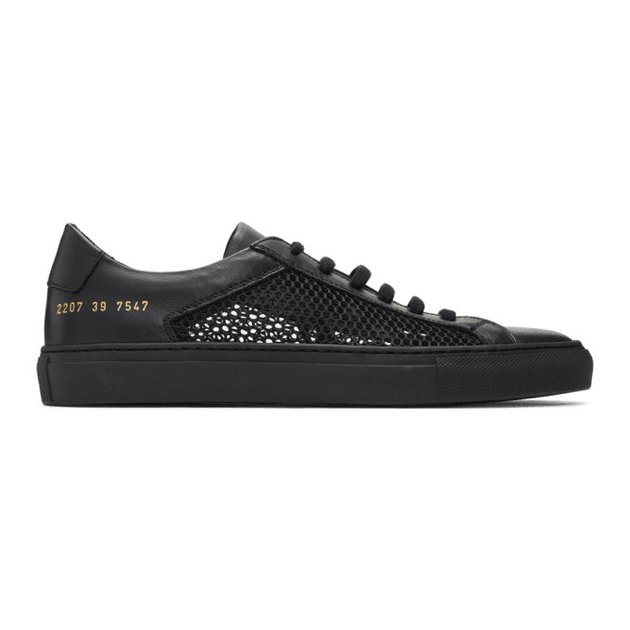 amazon reasonable price outlet store Common Projects Black Summer Edition Achilles Low Sneakers