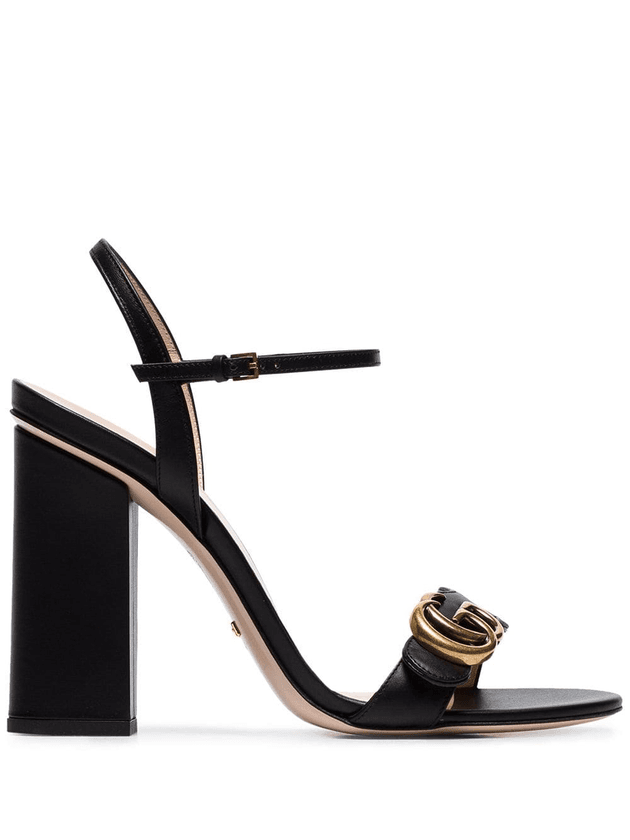 2643e960262 Gucci Marmont 110 chunky heel leather sandals