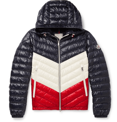 aa987a936 Moncler - Palliser Slim-fit Colour-block Quilted Shell Hooded Down Jacket -  Navy
