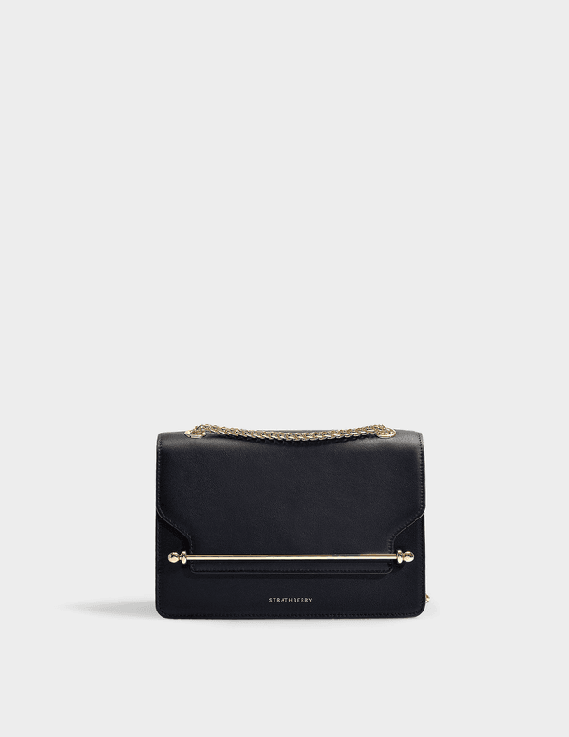 730fee4715b East/West Bag in Black Leather | MILANSTYLE.COM