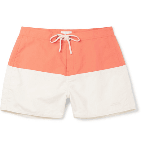 0baa17c1cf Saturdays NYC | Ennis Slim-fit Short-length Colour-block Swim Shorts |  Peach | MILANSTYLE.COM