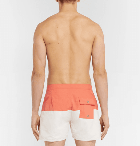 24fb0ef2a5 Saturdays NYC | Ennis Slim-fit Short-length Colour-block Swim Shorts ...