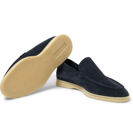 ed0ac06c033 Loro Piana - Summer Walk Suede Loafers - Navy