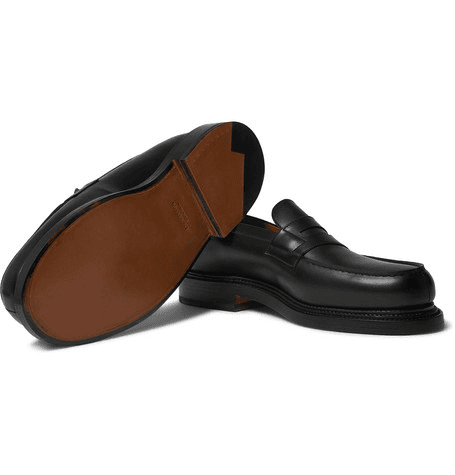 f22fb669fcb J.M. Weston - 180 The Moccasin Leather Loafers - Black