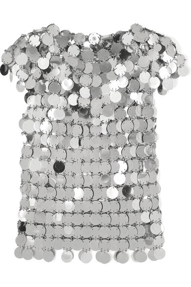 com Top Paco Silver RabanneSequined Milanstyle 1JFKlc