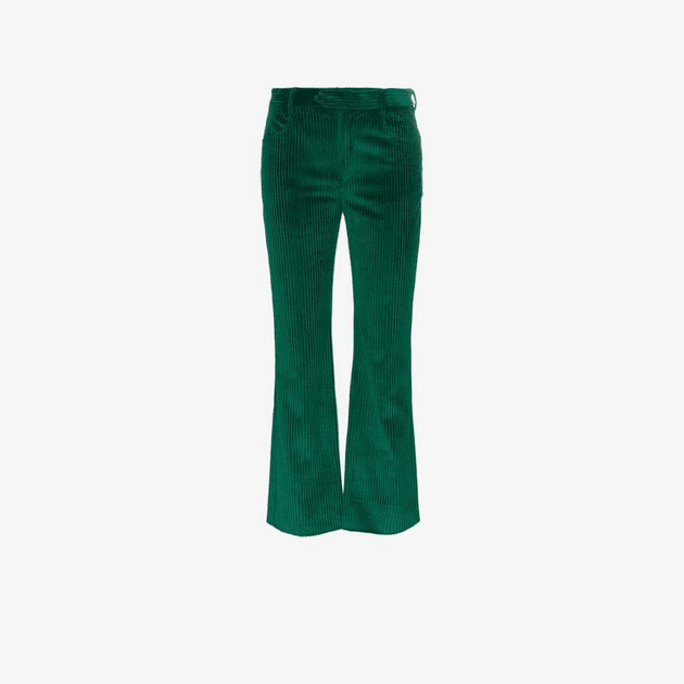 cfb210a0cfa Isabel Marant Mereo cropped corduroy cotton trousers | MILANSTYLE.COM