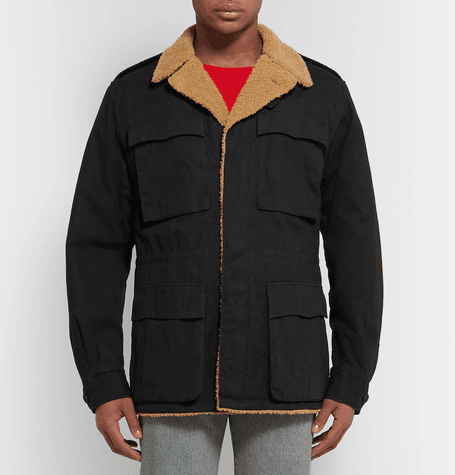 8e294f716 Gucci | Faux Shearling-lined Logo-printed Cotton-canvas Jacket ...
