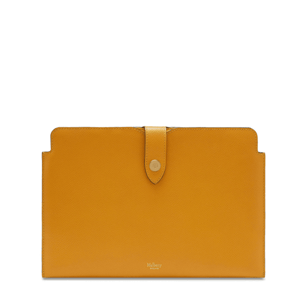 high fashion outlet boutique arrives Mulberry Press Stud Tech Pouch in Deep Amber Small Printed Grain ...
