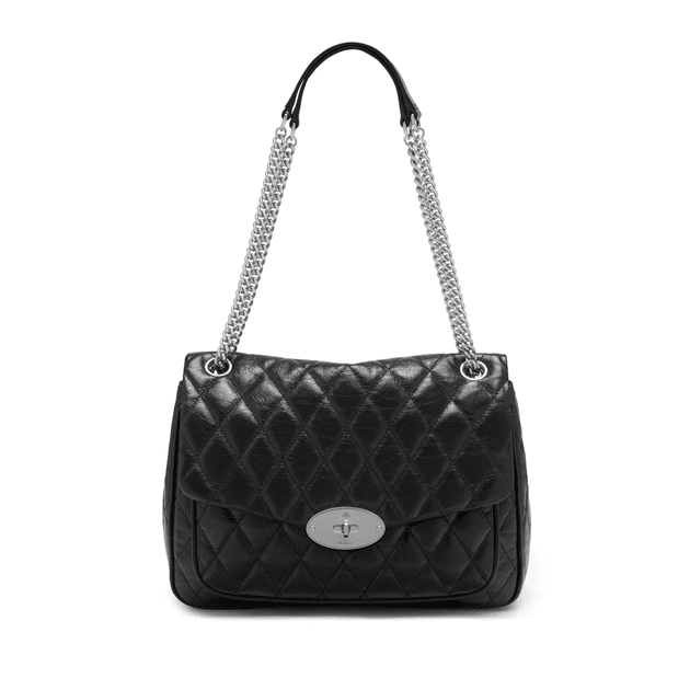 unique design attractive price official store Mulberry Darley Shoulder Bag in Black Quilted Shiny Buffalo ...